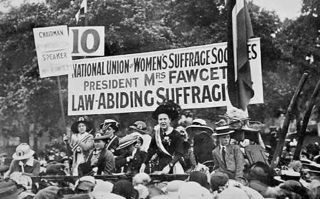 President WIlson Requests for Woman's Suffrage