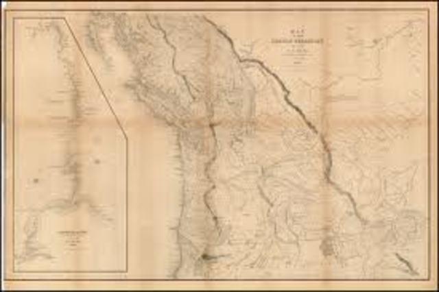 Oregon Territory Boundry