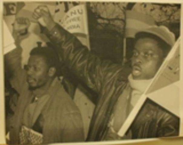 Blacks protests against apartheid