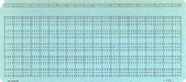 tarjetas perforadoras