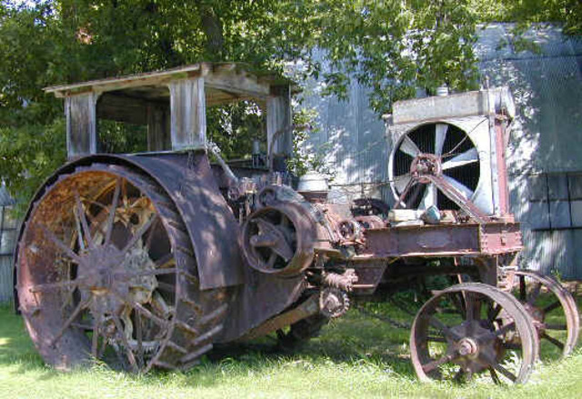 Steam powered tractor