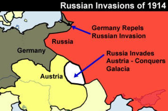Russia declares war on Austria-Hungary.