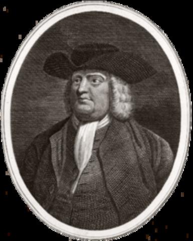William Penn gets Land Grant for Pennsylvania