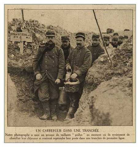 First trenches of the Western front are dug
