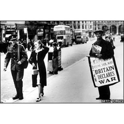 British Declares War on Germany