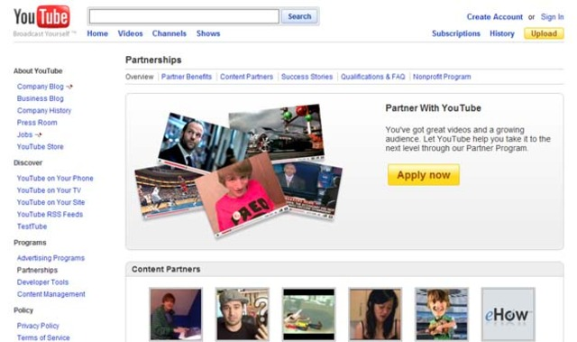 YouTube Partners