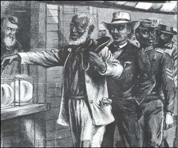 Slaves can vote due to the 14th amendment