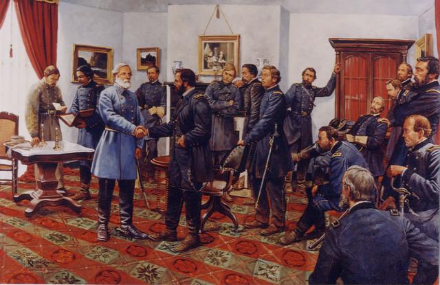 Robert E. Lee Surrenders