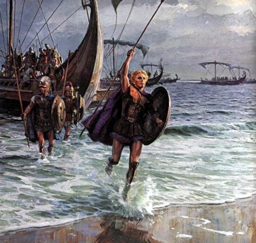 The Greeks attack the Trojan Walls