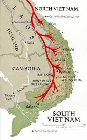 Ho Chi Minh trail begins