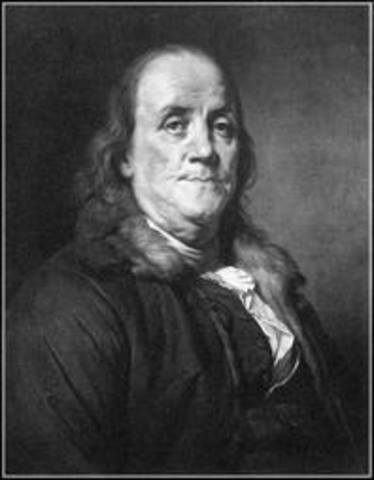 Benjamin Franklin invents the Lighting Rod