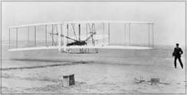 Wright Brothers make first flight