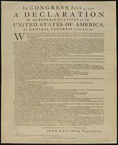 Declaration of Independence approved