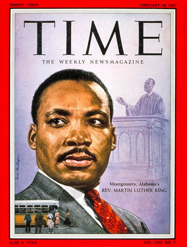 On January 3, King appears on the cover of Time magazine as its Man of the Year.