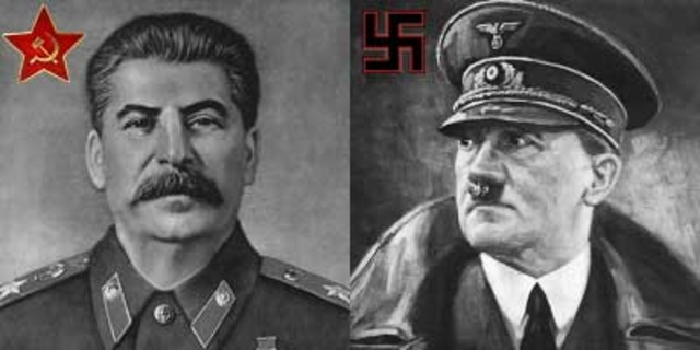 Non-agression pact was signed between Hitler and Stalin