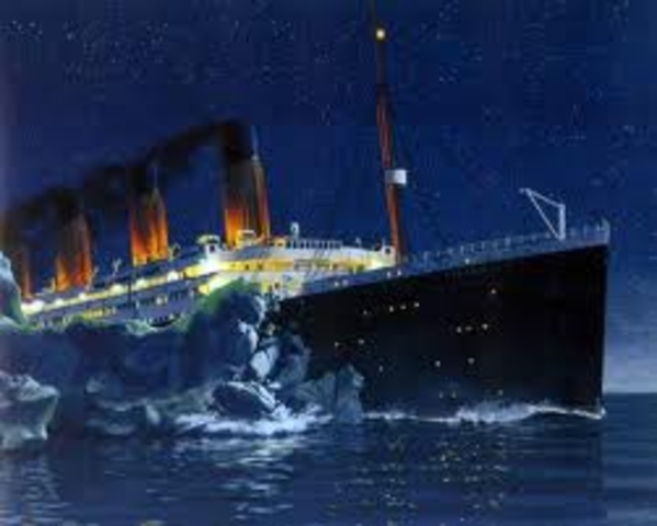 The iceburg that hit the ship