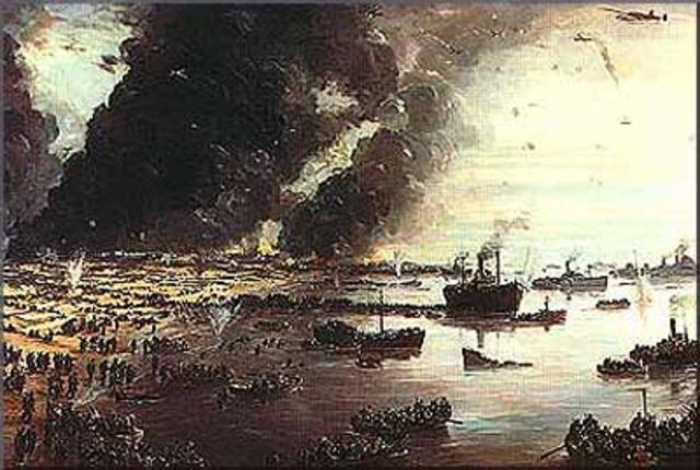 Evacuation At Dunkirk.
