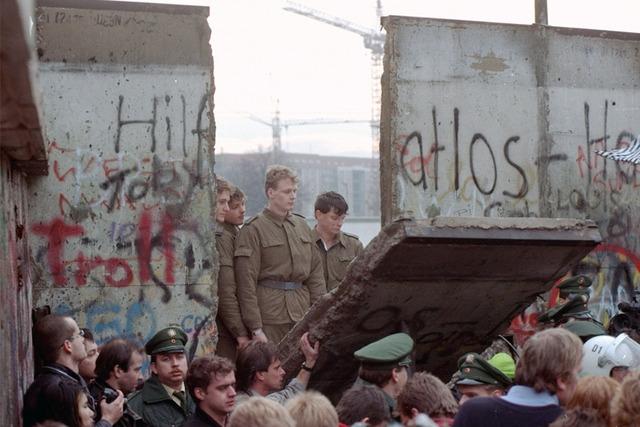 Berlin Wall is taken town, travel is allowed