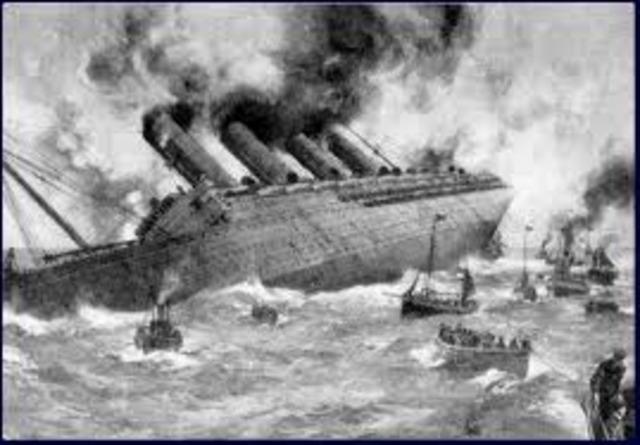 Lusitania Sunk.