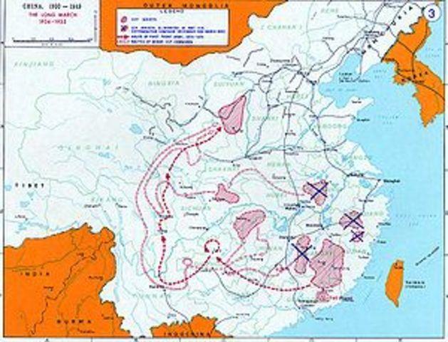 MaoZedong heads Long March