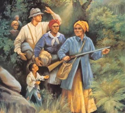 Harriet Tubman begins helping slaves escape using the underground railroad