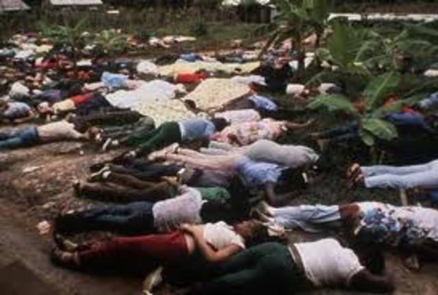 Jim Jones' Followers Commit Mass Suicide