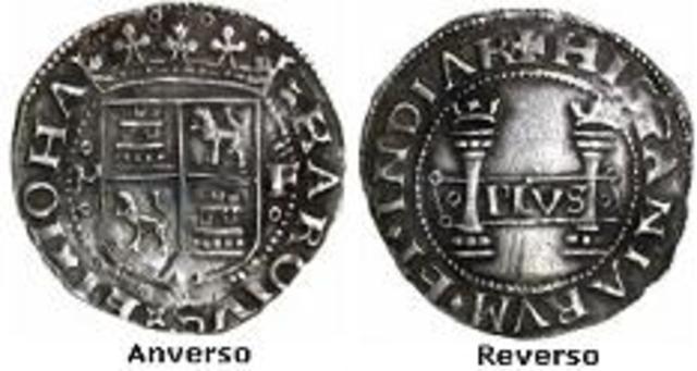 Época virreinal (1535 - 1821) Moneda de Carlos y Juana