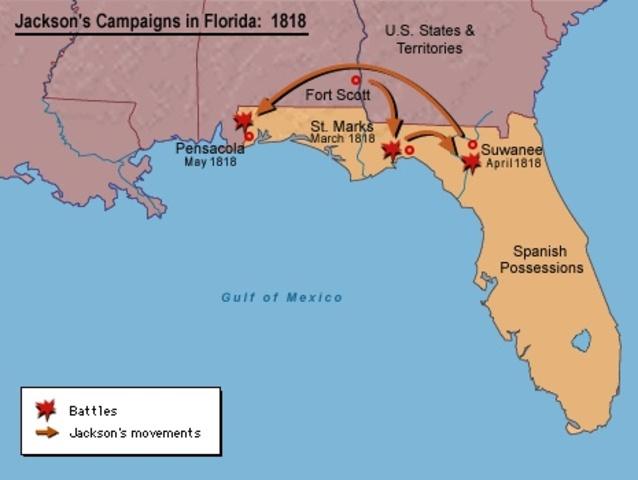 Spain ceded Florida