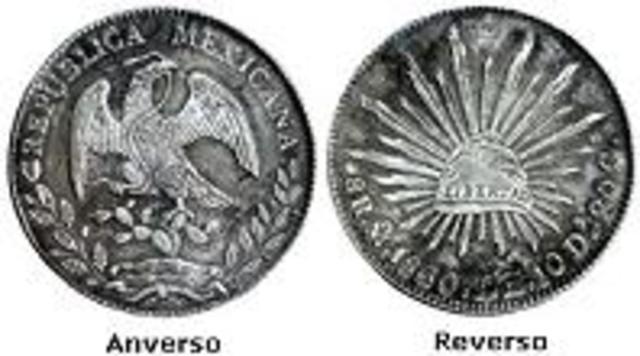 Moneda República Mexicana (1823 - 1905)Casa de México y Casas Foráneas