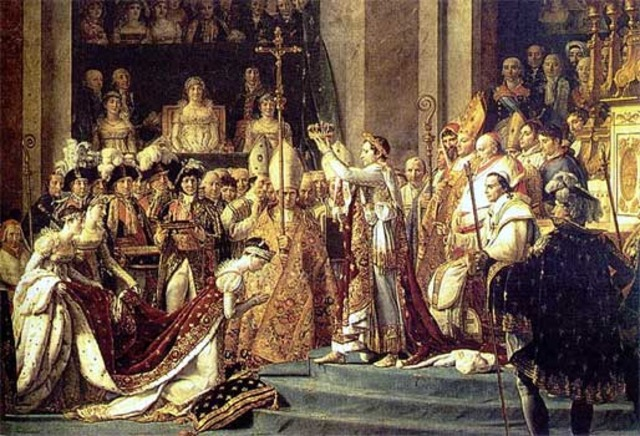 Napoleon kroner sig selv til kejser