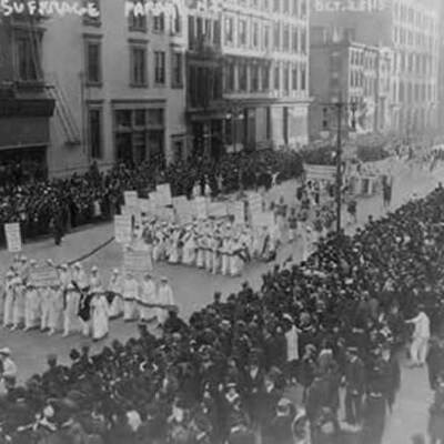 History of American Women Suffrage  timeline