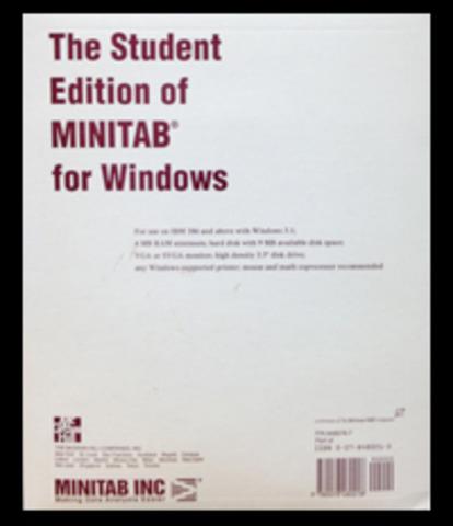 Minitab version étudiante