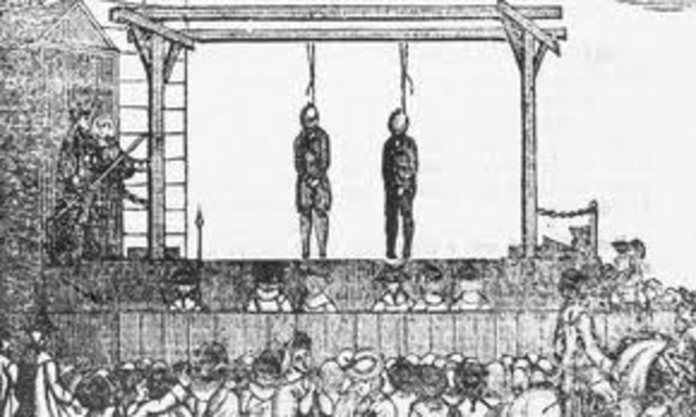 British Parliament ends all public hangings