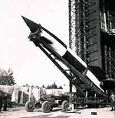 1942 The first rocket was launched.
