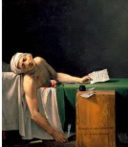 David, //The Death of Marat//, Neoclassicism France