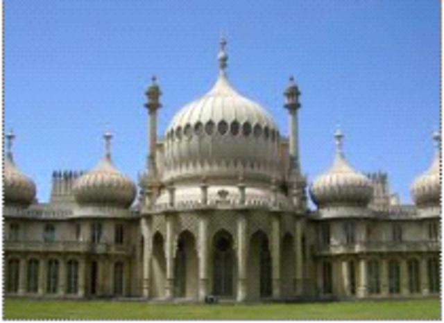 """Nash, Royal Pavilion, Brighton, England, (""""Indian Gothic"""" architecture)"""