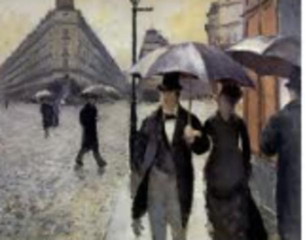 Caillebotte, Paris: A Rainy Day,  Impressionism
