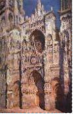 Monet, Rouen Cathedral: The Portal (in Sun),  Impressionism