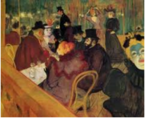 Toulouse-Lautrec, At the Moulin Rouge,