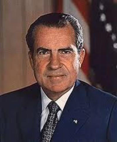 Nixon Elected as the 37th president