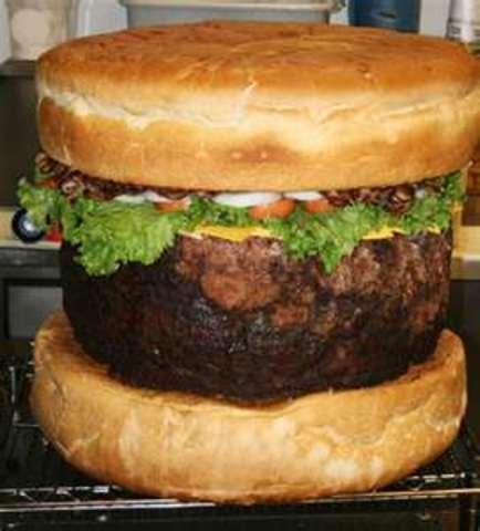 Largest hamburger served.