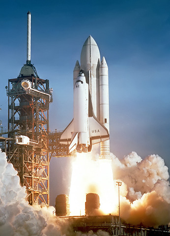 Space Shuttle Columbia Explodes