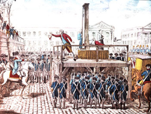 Execution of King Louis XVI of France