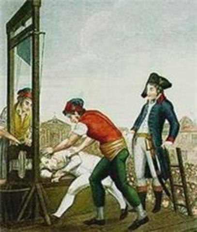 1793-1794 Maximilien Robespierre arrested and executed