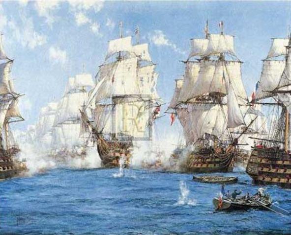 Nelson defeats Napoleon at the Battle of Trafalgar