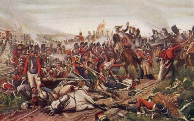 Wellington defeates Napoleon at the Battle of Waterloo