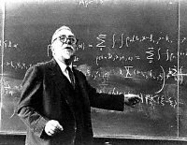 """Norbert Wiener published """"Cybernetics"""""""