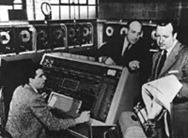 CBS News borrowed a UNIVAC to make a scientific prediction of the outcome of the race for the presidency between Dwight D. Eisenhower and Adlai Stevenson