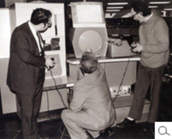 MIT students Slug Russell, Shag Graetz, and Alan Kotok write SpaceWar!