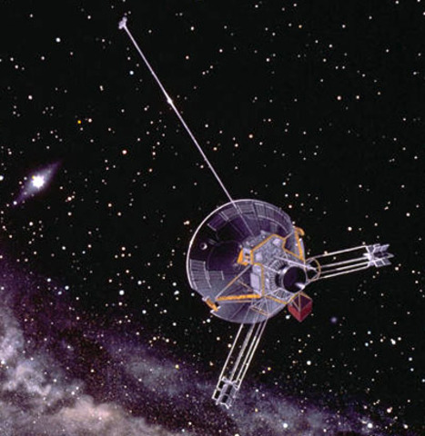 Pioneer 10's passing of other planets.